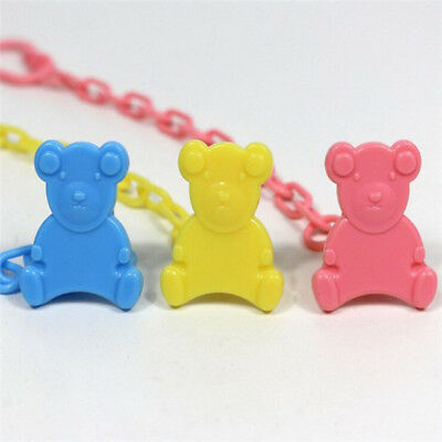 Baby Plastic Dummy Pacifier Soother Nipple Toy Chain Clip Holder LG