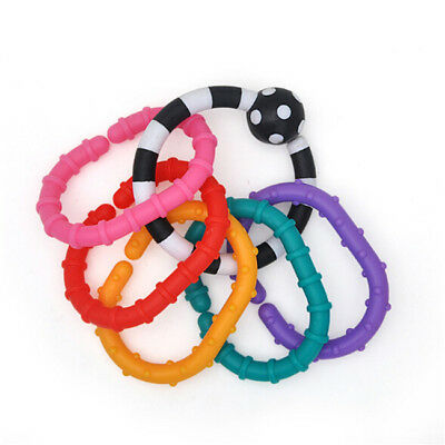 Baby Infant Teething Ring Soft Silicone Safety Chewy Teether Toys LG