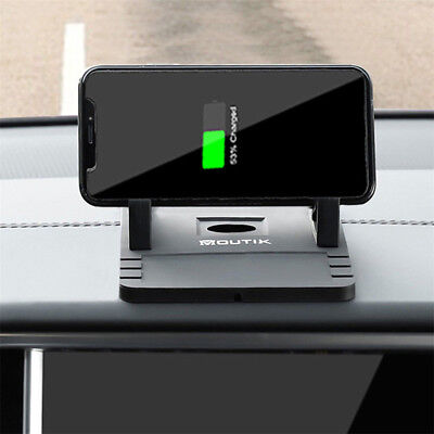 Car Qi Wireless Charging Fast Charger Holder Dashboard Non-Slip Mat For iphone X