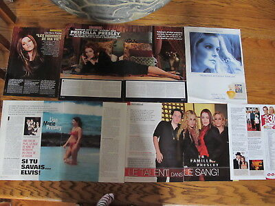 Priscilla,lisa- Marie Presley French Us Clippings