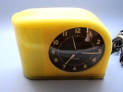 Vintage Art DECO working Alarm Clock with night light & stunning brass trim LQQK