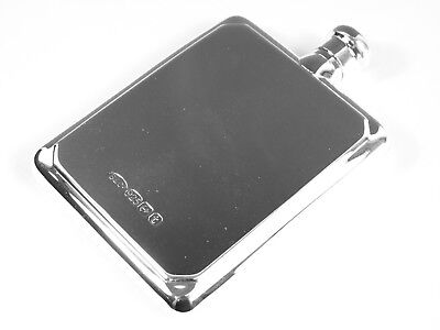 NEW - Solid Sterling Silver - HIP FLASK & FUNNEL - Large Size - Boxed
