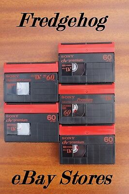 5 x SONY DVM-60 MINI DV VIDEO CAMCORDER TAPES / CASSETTES - PREMIUM QUALITY