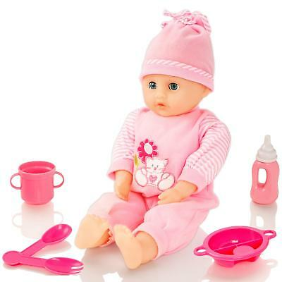 Molly Dolly Crying Laughing Talking Baby Doll Soft Bodied New-Born Dressed Girl