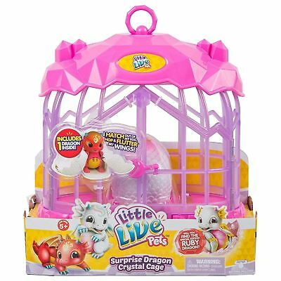 Little Live Pets Surprise Dragon Crystal Cage Playset