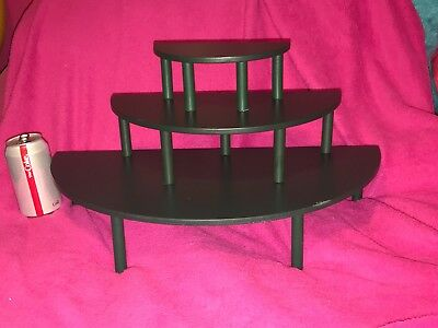 Set of 3 BYERS CHOICE The Carolers DISPLAY Risers SHELF for Christmas Decor  a