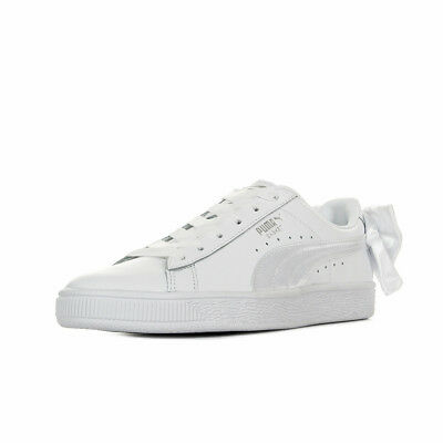 low priced c2b05 96e0e Chaussures Baskets Puma femme Basket Bow Wn s taille Blanc Blanche Cuir  Lacets