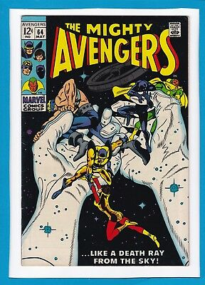 """Avengers #64_May 1969_Very Fine_""""..like A Death Ray From The Sky""""_Silver Age!"""