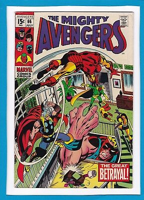 AVENGERS #66_JULY 1969_VERY FINE_1st APPEARANCE ULTRON 6_BARRY SMITH_SILVER AGE!