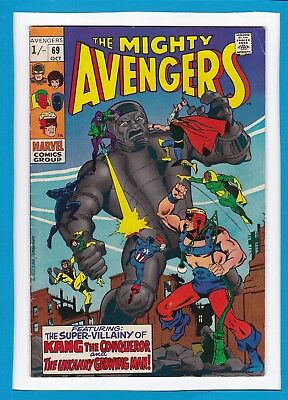 Avengers #69_Oct 1969_Vf Minus_Kang The Conqueror_The Growing Man_Silver Age Uk!