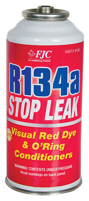FJC 9140 R134a Stop Leak With Red Dye And O-Ring Conditioners - 3 Ounce