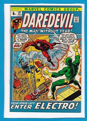 """Daredevil #87_May 1972_Very Fine+_""""from Stage Left...enter Electro""""_Bronze Uk!"""