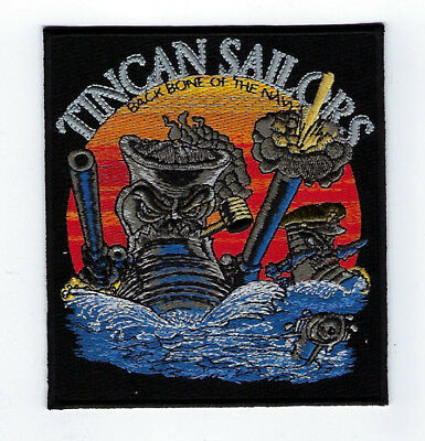 Tin Can Sailors Navy Patch Destroyer Dd Ddg De Dlg Ffg Pin Up Uss Us Navy Gift