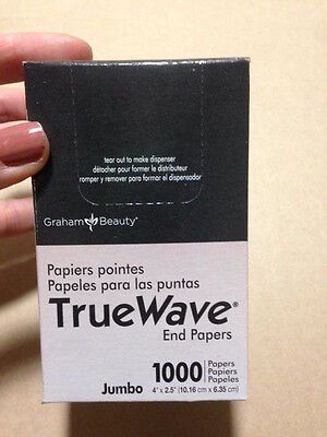 "TrueWave Jumbo End Papers Hair Perm 4"" x 2.5"" (pack/1000) by Graham Prof  #26067"