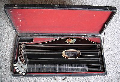 Antique 32 String Zither Auto-harp by Franz Tomschik, Vienna with Case