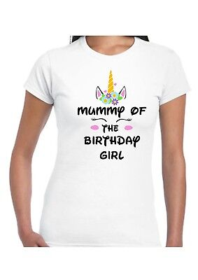 Ladies*women's*party T.shirt * Mummy Of The Birthday Girl  *unicorn Lashes