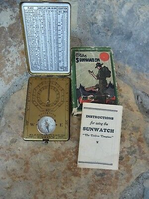 1920s Sunwatch by the Outdoor Supply Co. NY with Box and Instructions