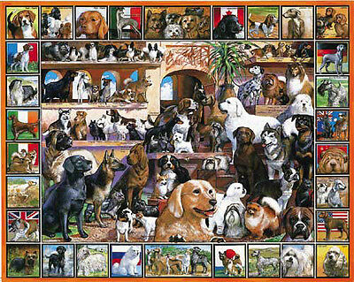 World of Dogs Puzzle Irish Gordon Setter Beagle Bloodhound Vizsla Weimaraner