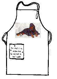Gordon Setter Full Size Apron No Longer Available Made in USA (D)