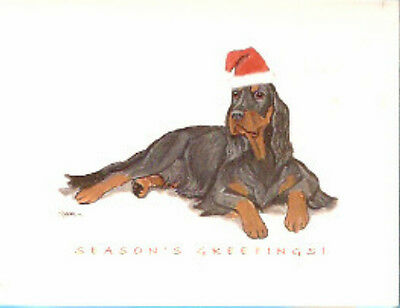 Gordon Setter Santa Christmas Cards Box of 8
