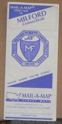 1996 Mail-A-Map Street City Map Milford Connecticut
