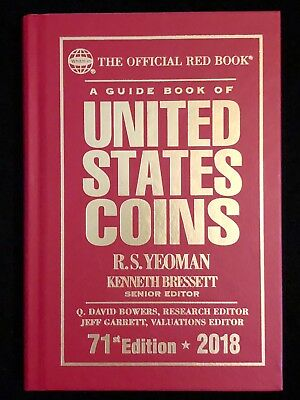 New 2018 United States Coins Red Book Hardback 71st Edition By Kenneth Bressett