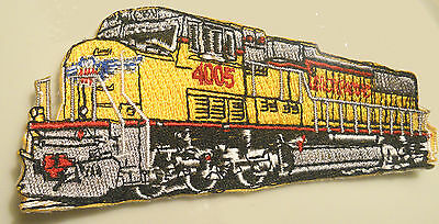 Union Pacific Diesel embroidered Patch Railroad Railway RR Train Yellow 4 inch