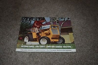 1967 International Cub Cadet Lawn & Garden Tractor brochure 72 104 105 124 125