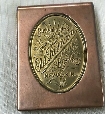 Antique Birkenhauer's Brewery Newark, N. J. (1909-1916) ADV. Copper/ brass Box
