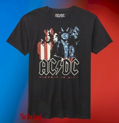 New AC/DC Highway To Hell Tour Mens 1979 American USA Vintage T-Shirt
