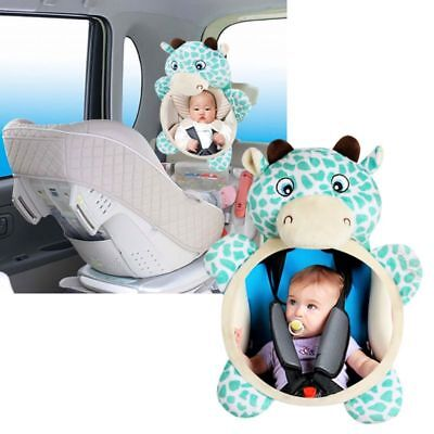 Adjustable Wide View Rear Child/Baby Safety Car Seat Back Mirror Headrest Mount