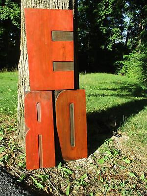 3 Antique Letterpress Wood Type Extra Large Letters D - R - E Measure 18 In Tall
