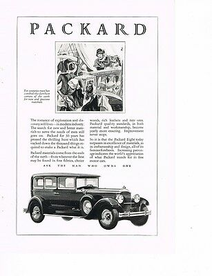 PACKARD 'Ask The Man Who Owns One' 1929 Ad