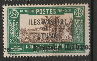 FRANCE Wallis & Futuna 1941 85c 'FRANCE LIBRE' OVPT Mint Hinged  #