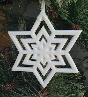 "Margaret Furlong 3.5"" Snowflake Star Ornament BRAND NEW in Box Free Shipping"