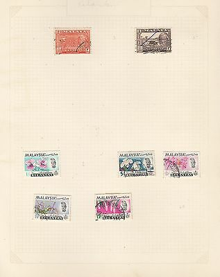 MALAYA on album page stamps removed for shipping (f)