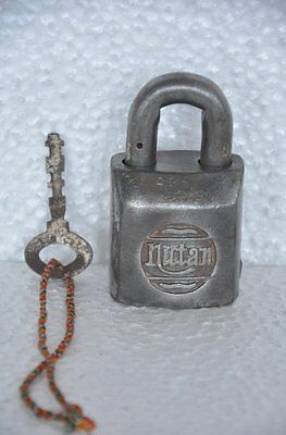 Old Iron Solid Heavy NUTAN Brand Handcrafted Unique Padlock