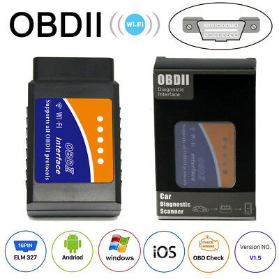 WiFi OBD2 ELM327 Bluetooth Car Scanner For Android iOS Windows Auto Scan Tool