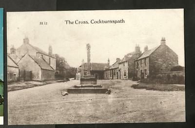 LWI Early Postcard, The Cross, Cockburnspath, Borders