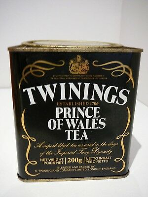 Twinings Prince of Wales Tea Tin 200g Empty Collectable Advertising
