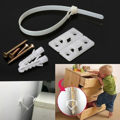 Anti-Tip Baby Safety Straps for Flat TV and Furniture Wall Strap Lock Protection