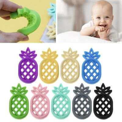 DIY Baby Pineappl Teether Infants BPA Free Silicone Necklace Pendant Chew Toys