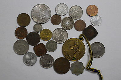 World Coins & Medals Lot With Many Old Coins A85 Pggg46