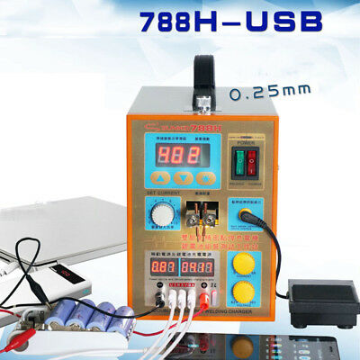 LED Dual Pulse 18650 Battery Spot Welder 788H-USB Welding Charger Welders Gift