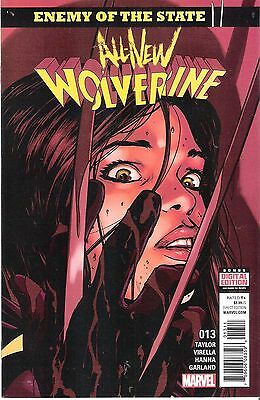 """1 x All-New Wolverine #13 Comic """"Enemy of the State II"""" Part One of Six HTF X-23"""