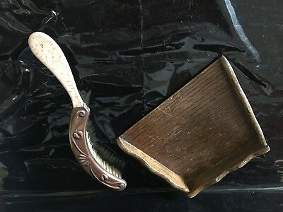Vintage Table Dustpan and brush