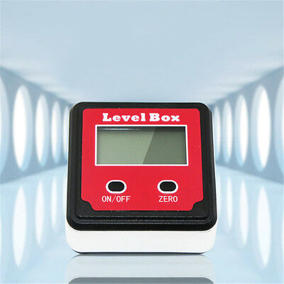 Level Box Digital Inclinometer Protractor Gauge Finder Bevel Meter Magnetic New