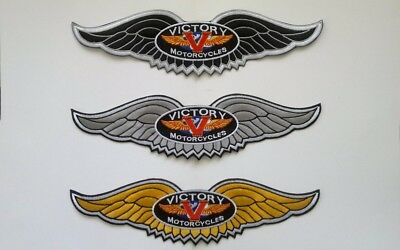 """Victory Motorcycle 11"""" black wing patch.NEW.UNIQUE"""