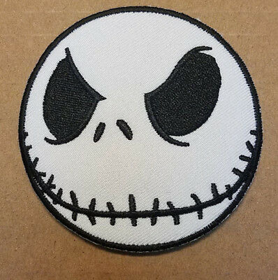 Nightmare Before Christmas Jack Head embroidered Patch 3 inches wide