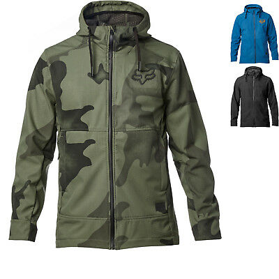 Fox Racing Pit Hooded Jacket Mens Lightweight Textile Water Resistant Breathable